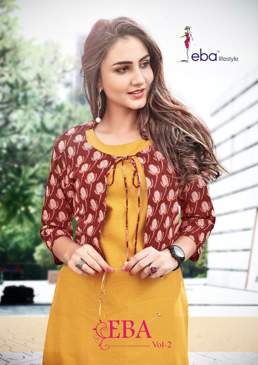 Eba lifestyle eba vol 2 jacket style Kurtis collection