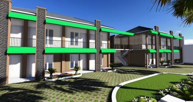 desain rumah kos kosan yang sehat