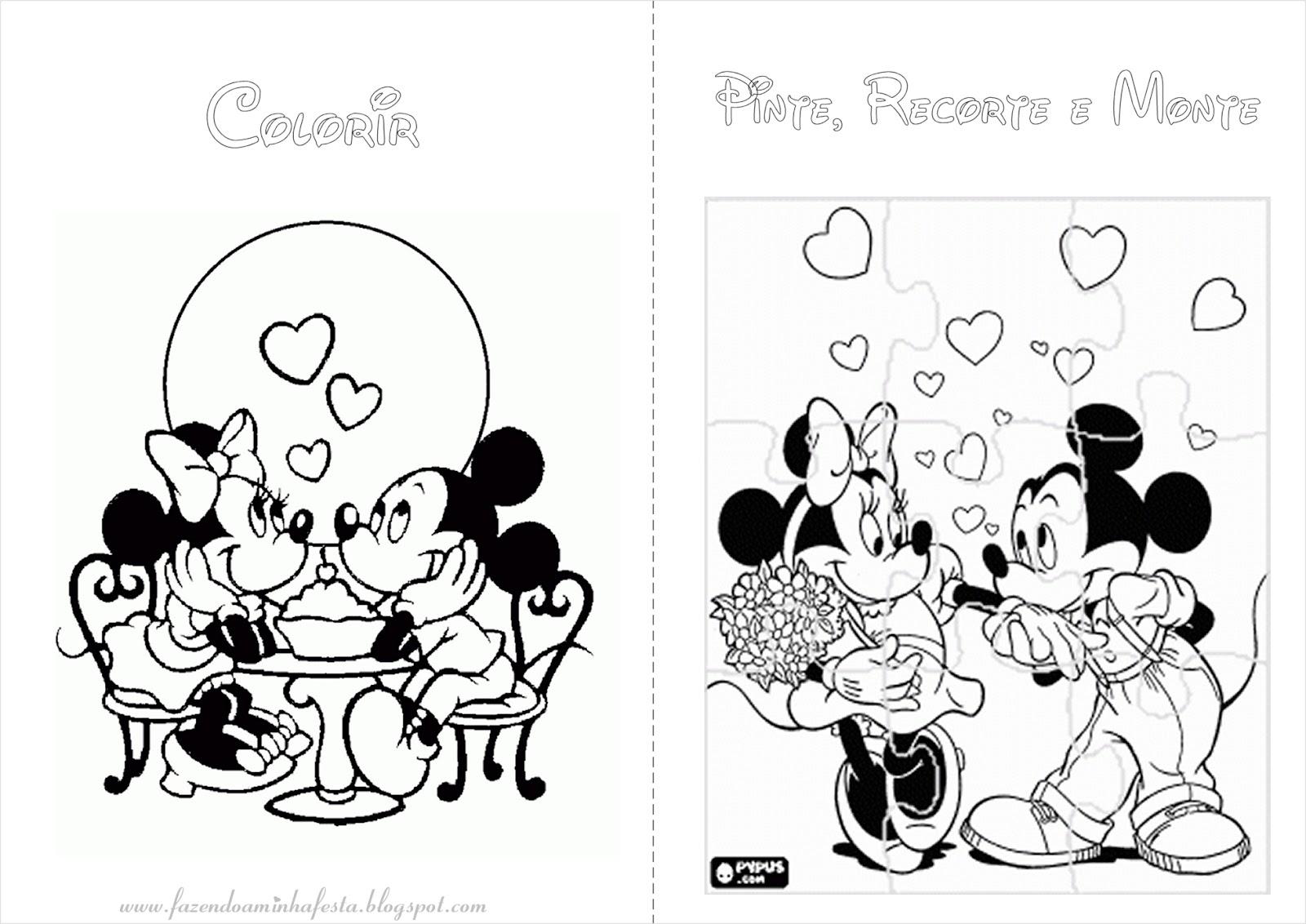 Imagens Para Colorir Minnie E Mickey