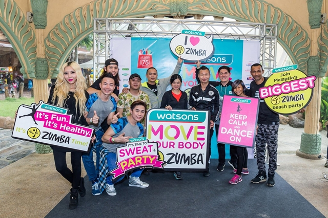 zumba, Move Your Body Zumba, Watsons Malaysia, Ean Hitz FM, Arnold Hits FM, Skelator, Sunway Lagoon Surf Beach, health, fitness, byrawlins