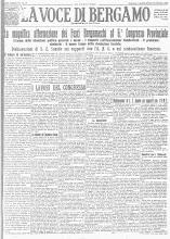 LA VOCE DI BERGAMO 27 GENNAIO 1925