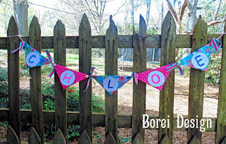 One year of crafts 2015: How to make a decorative fabric name banner.