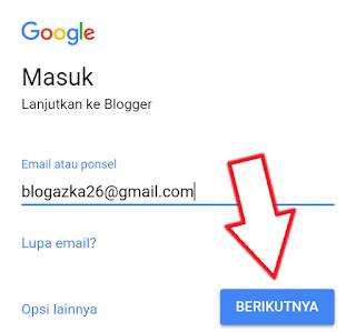 mendaftar di blogspot menggunakan akun google