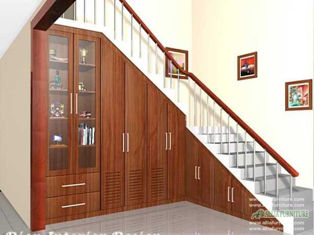 lemari bawah tangga minimalis omaha