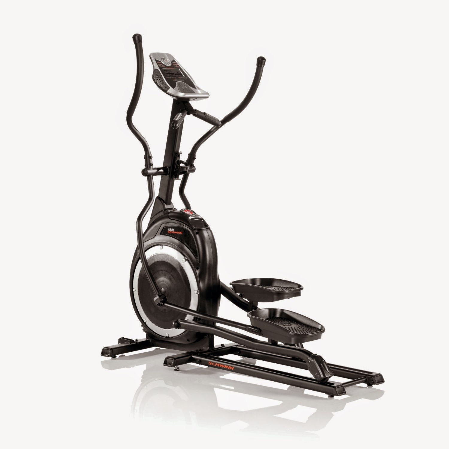 Schwinn 425 Elliptical Trainer, review features, 10 workout programs, 16 levels of ECB magnetic resistance, low-mid range elliptical machine