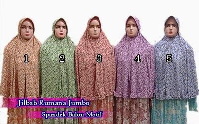 Jilbab instan cantik rumana jumbo