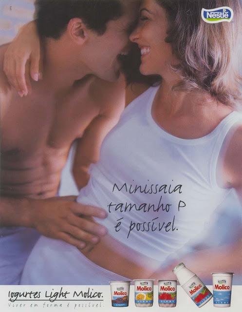 Propaganda do Iogurte Molico apresentada em 1998, com objetivo de mostrar possibilidades de manequim reduzido para as leitoras