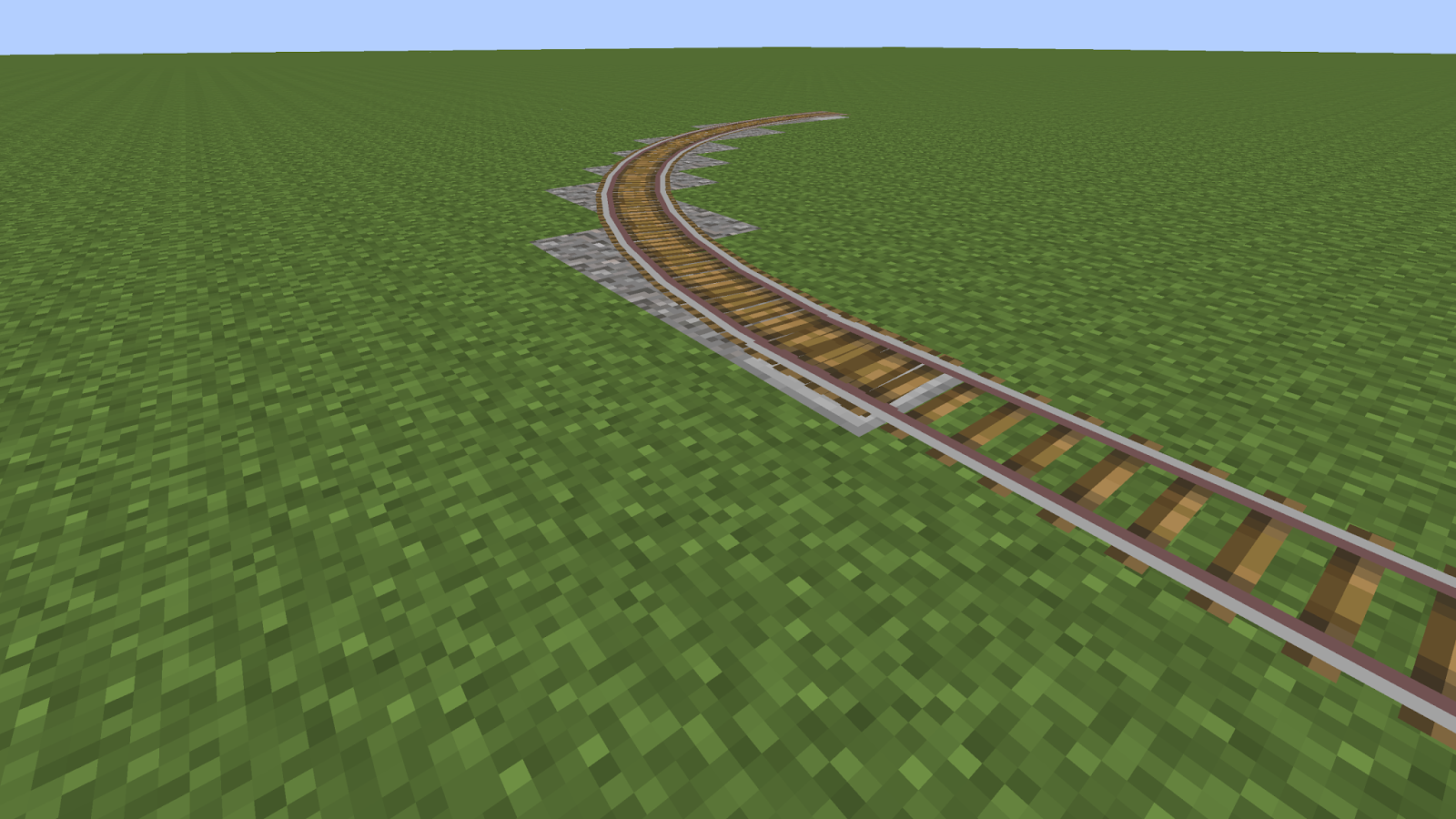 minecraft rail tracks