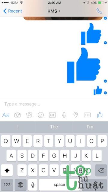 Chat biểu tượng lớn Messenger