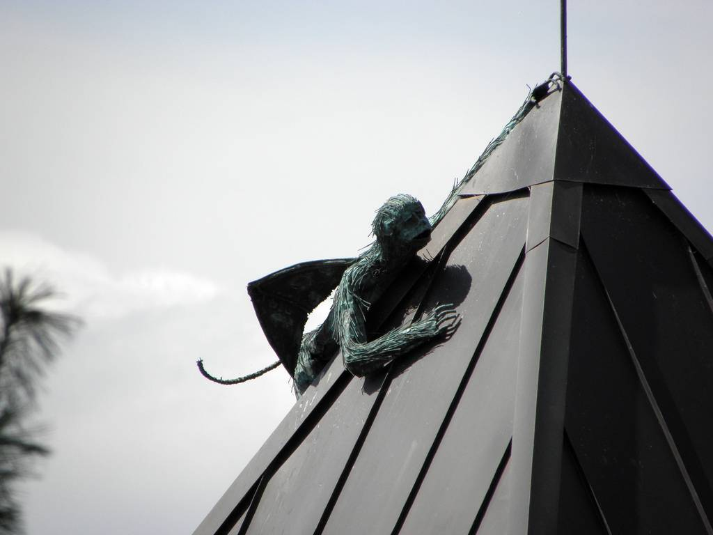 Flying winged monkey sculpture burlington vermont