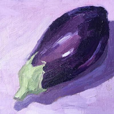 #57 'Aubergine' 6×6″