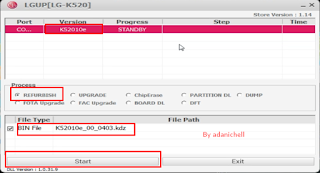 Cara Flash LG K520DY Via Lgup Flashtool