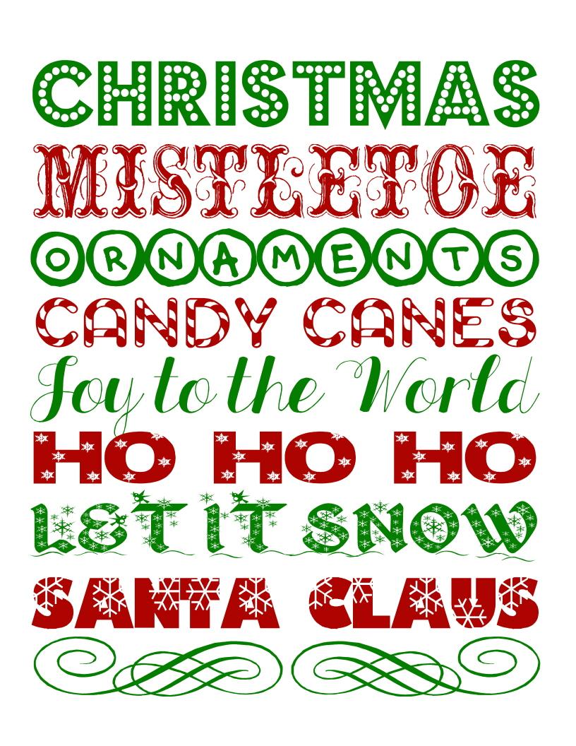 Christmas Subway Art.Jones Creek Creations Free 8x10 Christmas Subway Art Print