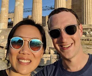 Mark Zuckerberg Celebrates 7th Wedding Anniversary With Wife, Priscilla Chan At Greece