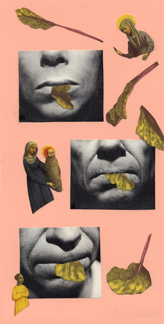 Hand cut paper collages for Los Dias Contados