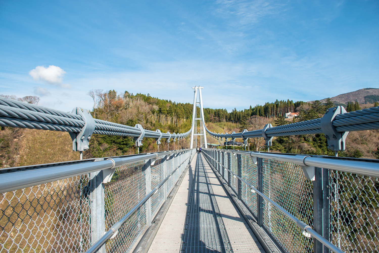 Suspension bridge architecture and engineering details in japan