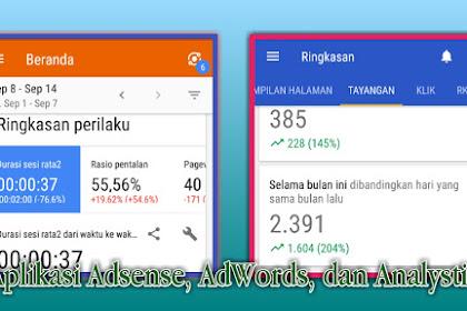 Manfaat aplikasi Adsense, AdWords, dan Analystic untuk blogger.