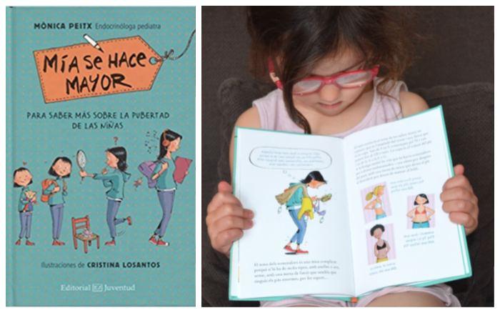 libro infantil juvenil pubertad cambios adolescencia Mía se hace mayor juventud
