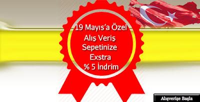 19 Mayıs'a Özel Nevrsim dünyasında Alışveriş Sepetine Ekstra % 5 İndirim...