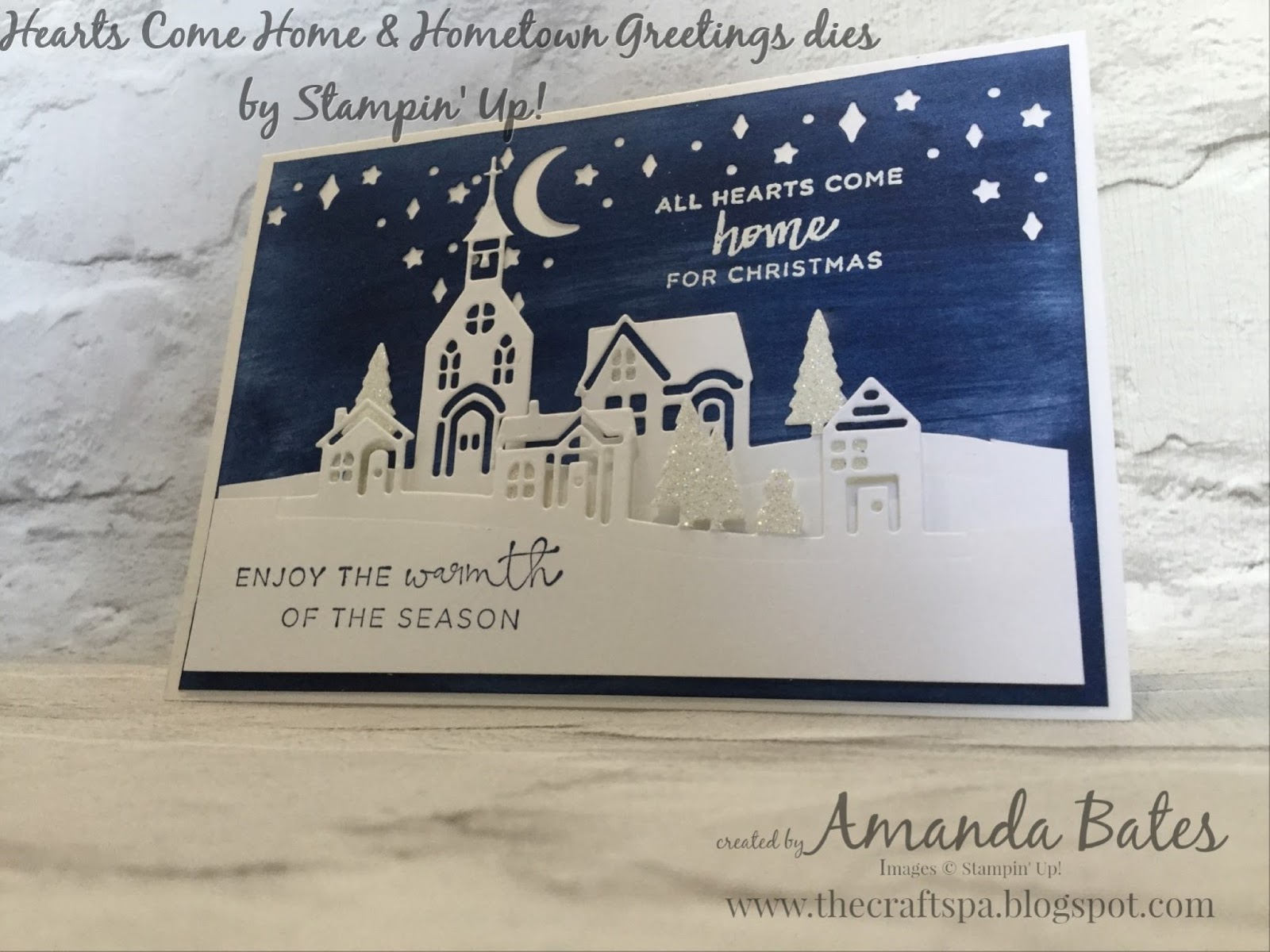 The craft spa stampin up uk independent demonstrator order nightsky panel achieved using the baby wipe swoosh or swipe technique and then die cut using the card front builder dies i used this die twice across m4hsunfo