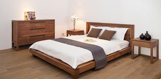 Giường ngủ gỗ óc chó có độ bền cao