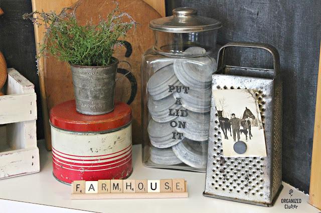 Scrabble Tile Farmhouse Sign Rack