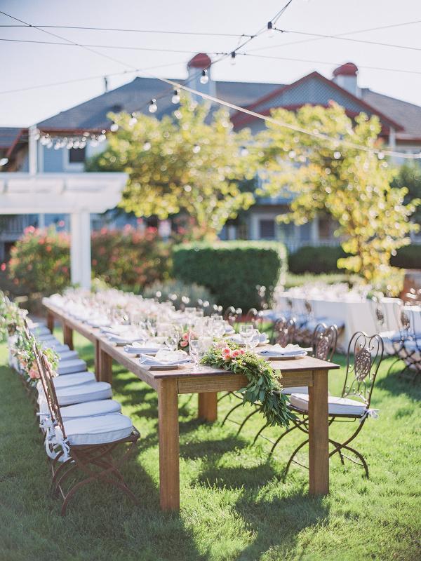 mesa alargada para boda chicanddeco