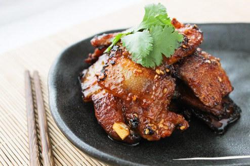 Thịt ba chỉ áp chảo kiểu Hàn