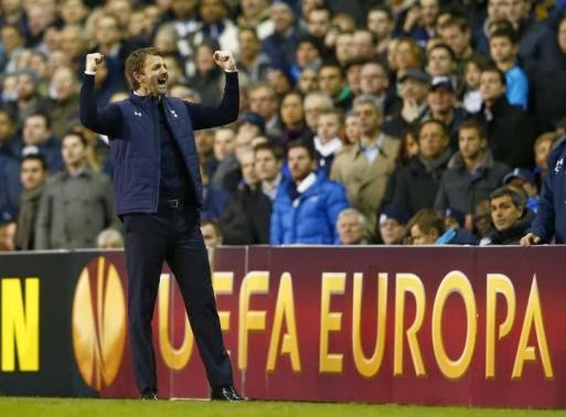 Tim Sherwood celebrates