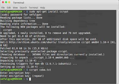 cara enkripsi dekripsi file di ubuntu linux mint encrypt decrypt file linux encrypt and decrypt file in linux linux shell encrypt decrypt file