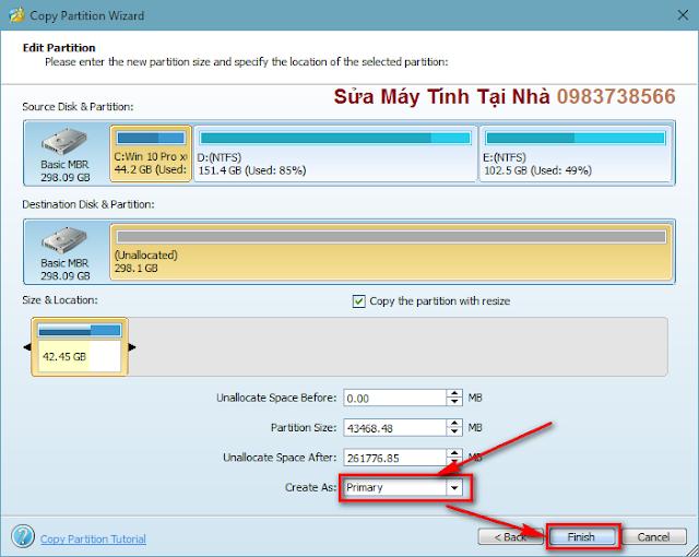 Copy hệ điều hành Windows từ HDD sang SSD