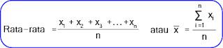 Rumus menghitung mean data tunggal/tidak berkelompok