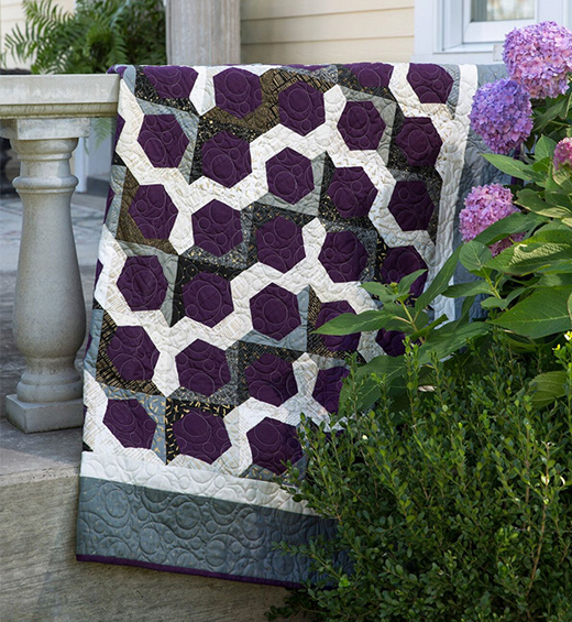 Surprise Half Hexi Quilt Free Tutorial designed by Jenny of Missouri Quilt Co