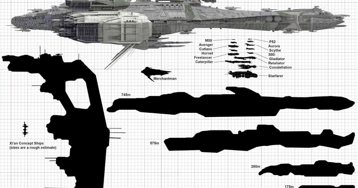 Star Citizen Xempire Star Citizen Ship Size Comparison