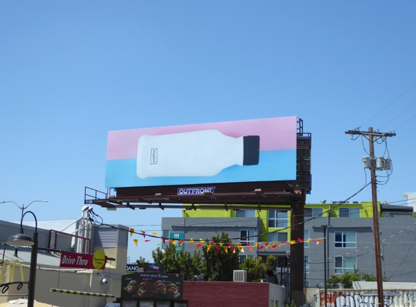 Soylent pink blue billboard