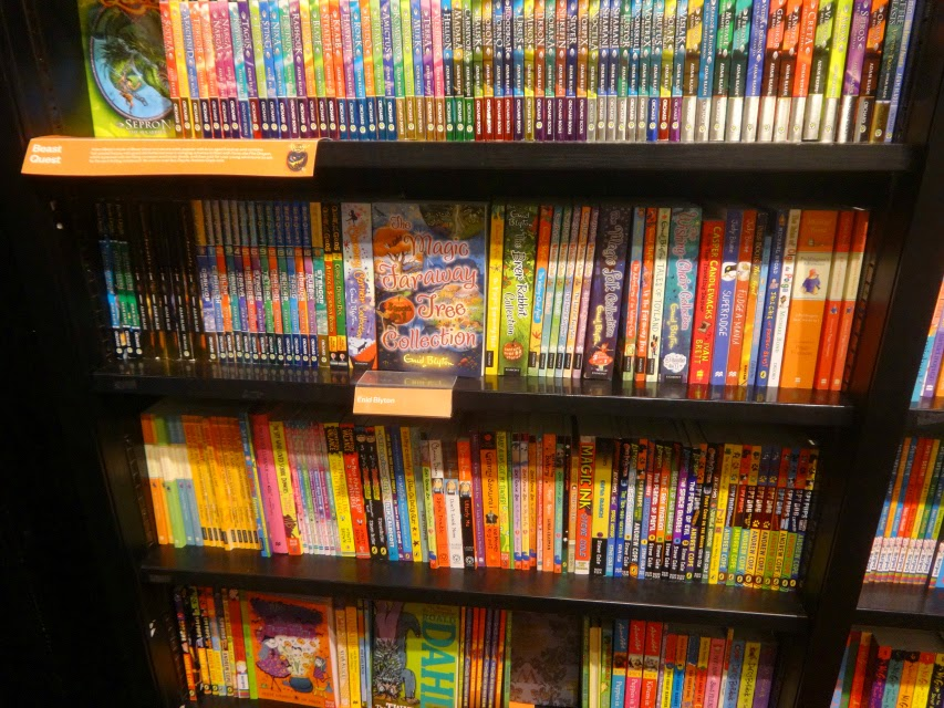 Enid Blyton on the shelves of Waterstones