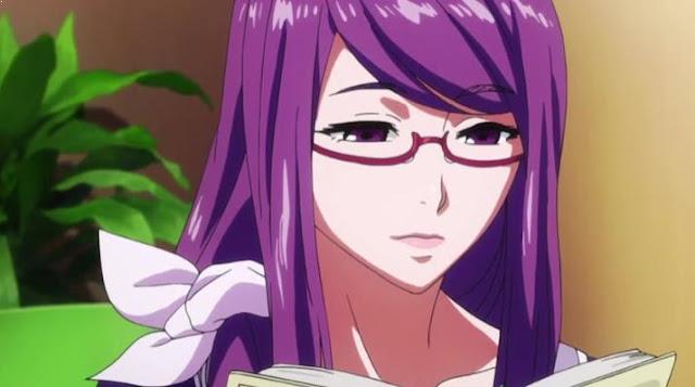 Karakter Anime Perempuan Berambut Ungu Terbaik dan Tercantik - Rize Kamishiro (Tokyo Ghoul)