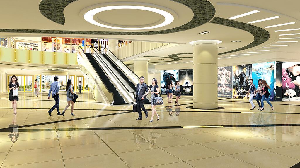 Trung tâm thương mại rộng lớn tại Goldliight City Khuất Duy Tiến