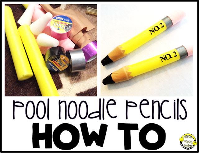 Pool Noodle Pencils by Planet Happy Smiles