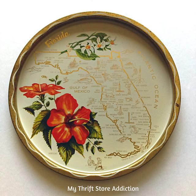 Vintage Florida State Souvenir Tray