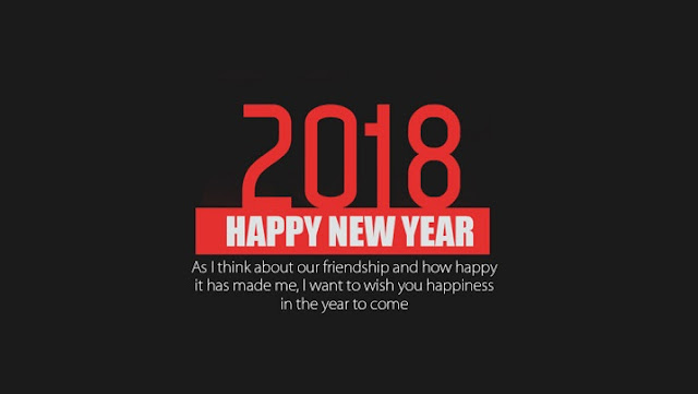 Happy New Year 2018 HD Wallpaper