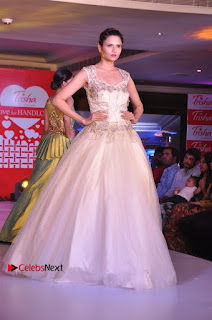 South Indian Celebrities Pos at Love For Handloom Collection Fashion Show  0015.jpg