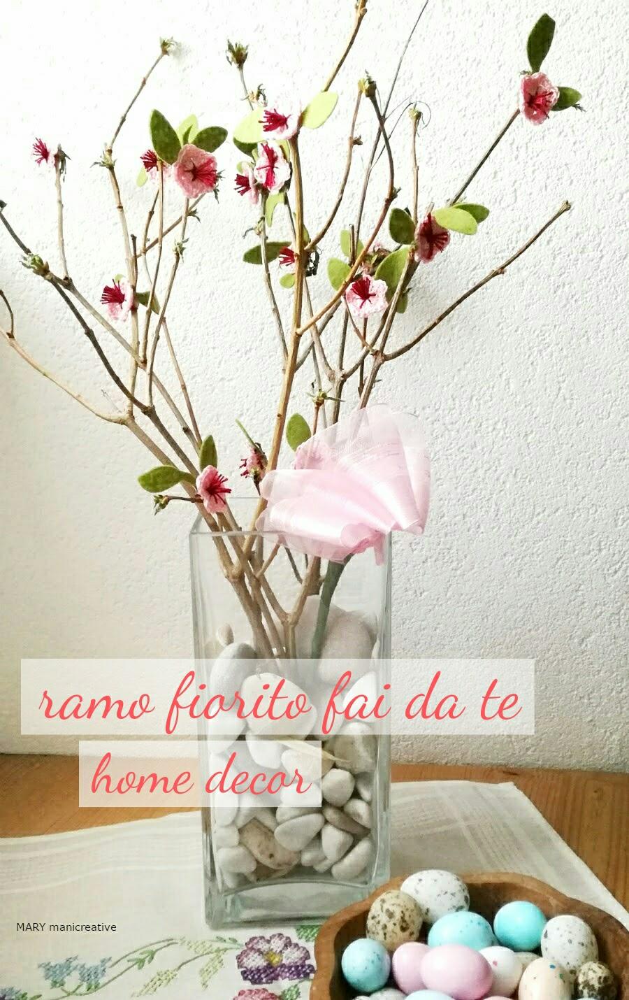 Rami Di Pesco Finti mary mani creative: ramo fiorito con fiorellini a crochet - diy