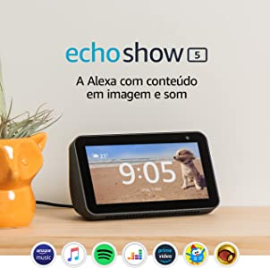 "Amazon. Echo Show 5 - Smart Speaker com tela de 5,5"" e Alexa - Cor Preta"
