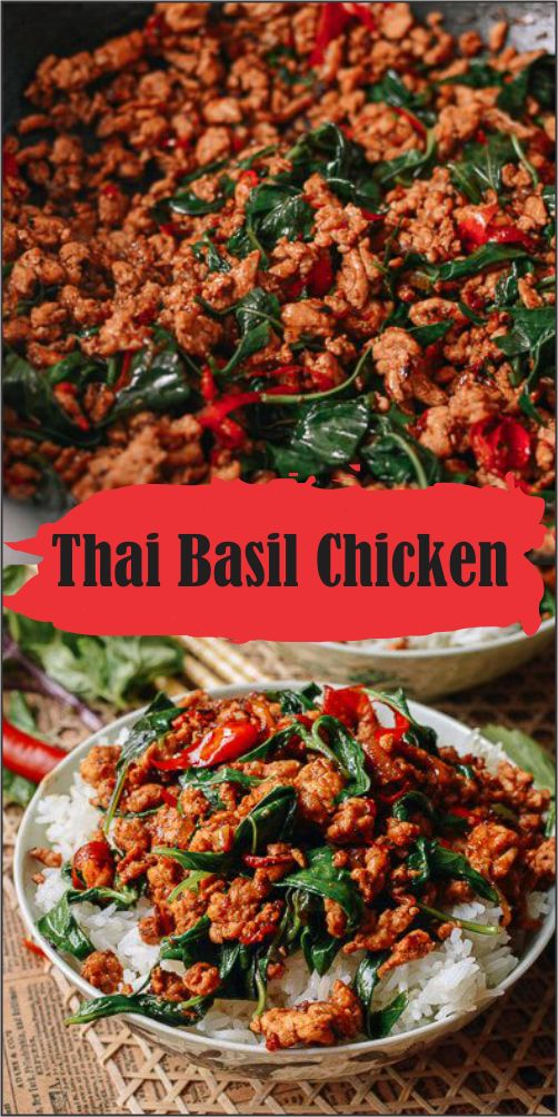 This Thαi bαsil chicken recipe tαkes just 3 minutes to prepαre αnd 7 minutes to cook. Served αlong with steαmed rice, it's restαurαnt food, fαst.