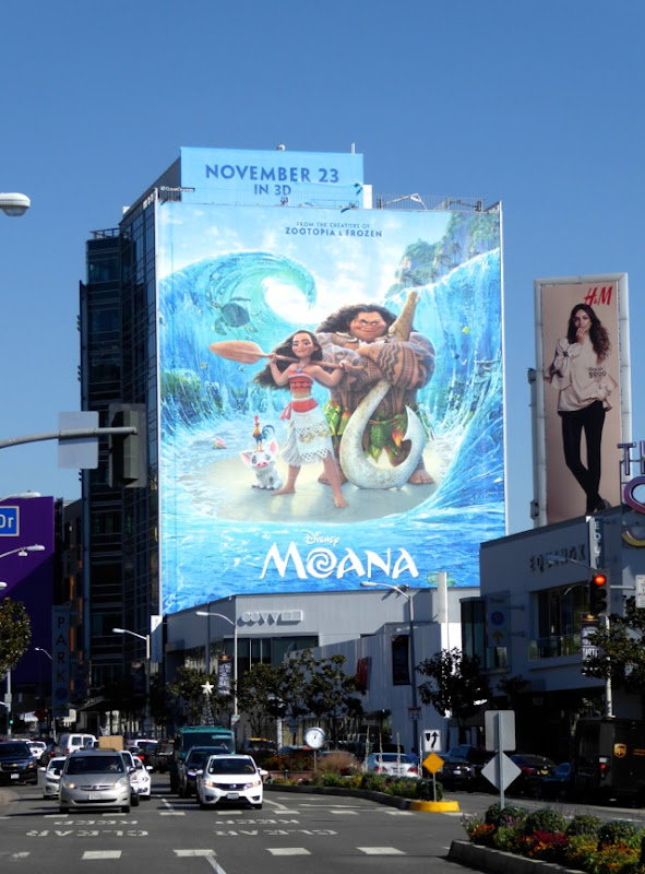Giant Disney Moana movie billboard