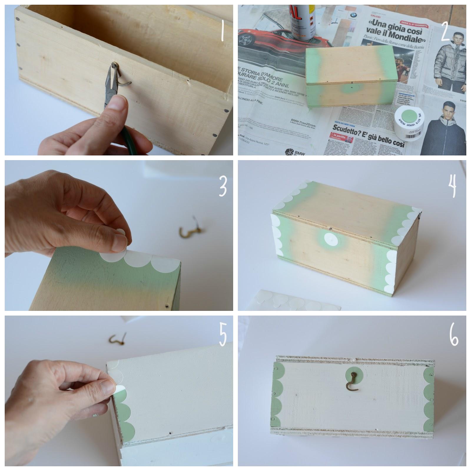 Popolare Linfa Creativa: Diy: come decorare una scatola di legno RG93