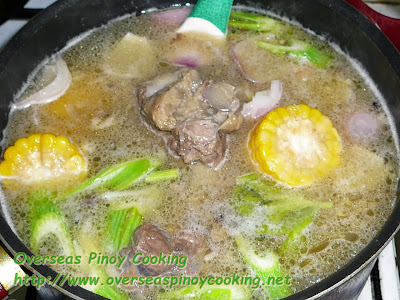 Nilagang Oxtail - Cooking Procedure