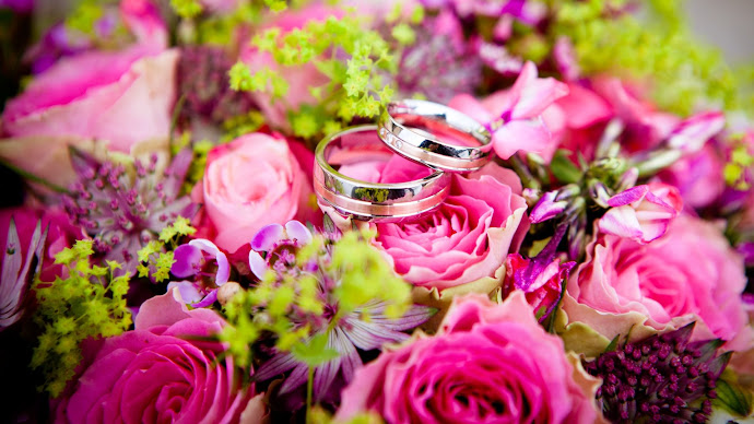 Picture 5: Wedding rings on flowers bouquet