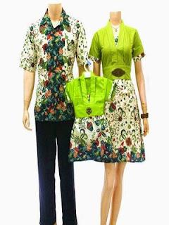 model baju batik sarimbit ayah ibu anak